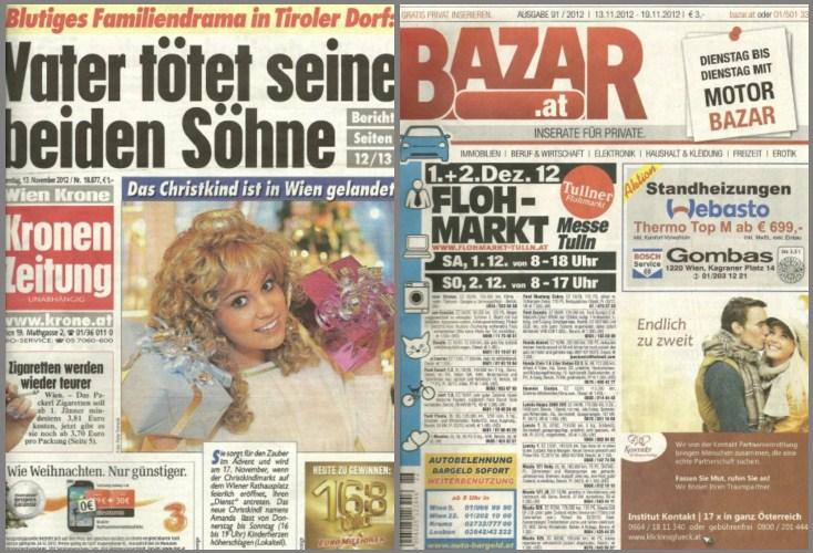 Kronen Zeitung, Bazar